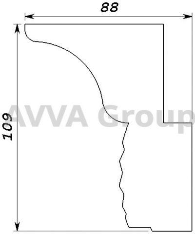 37 карниз гнутый Т 110 сечение